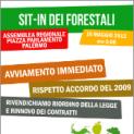 SIT-IN DEI FORESTALI DAVANTI LA PREFETTURA CONTRO IL MANCATO AVVIO DELLA CAMPAGNA ANTINCENDIO 2012