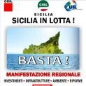 """Il 7 maggio a Palermo manifestazione regionale Cgil Cisl Uil """"Sicilia in lotta"""". Un migliaio di manifestanti da Trapani per sviluppo e lavoro"""