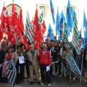 Cgil, Cisl e Uil stamattina in piazza contro la perdita di fondi Pac per gli asili nido